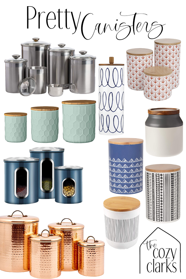 Today I'm rounding up some pretty canisters and canister sets that are pantry practical but pretty enough to be on display in your kitchen.