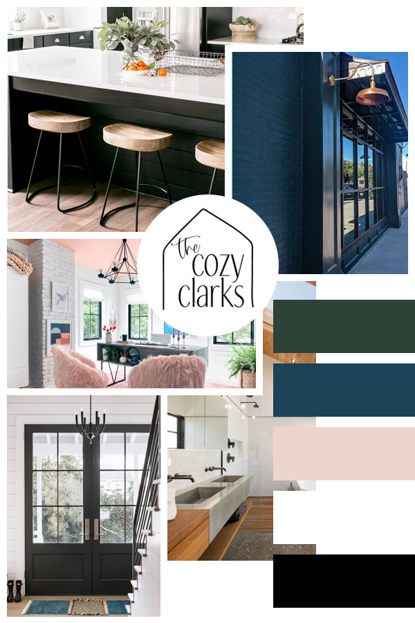 Today I decided to share the guiding colors, textures, concepts, and inspiration for our new Minnesota Modern country home. That's right—it's mood board time!