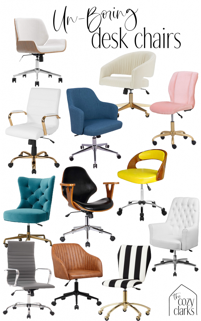 It's not like you can just pop in to Staples and find a desk chair that works when you're trying to be intentional about your home office. Whether your office design is glam, classic, or modern, I'm going to prove that there's a desk chair for you that is the perfect combination of form and function.