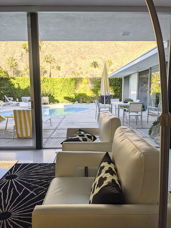 Every angle of this iconic midcentury modern Palm Springs home provided new inspiration—especially the indoor/outdoor design. Click to see more of this vacation rental home.