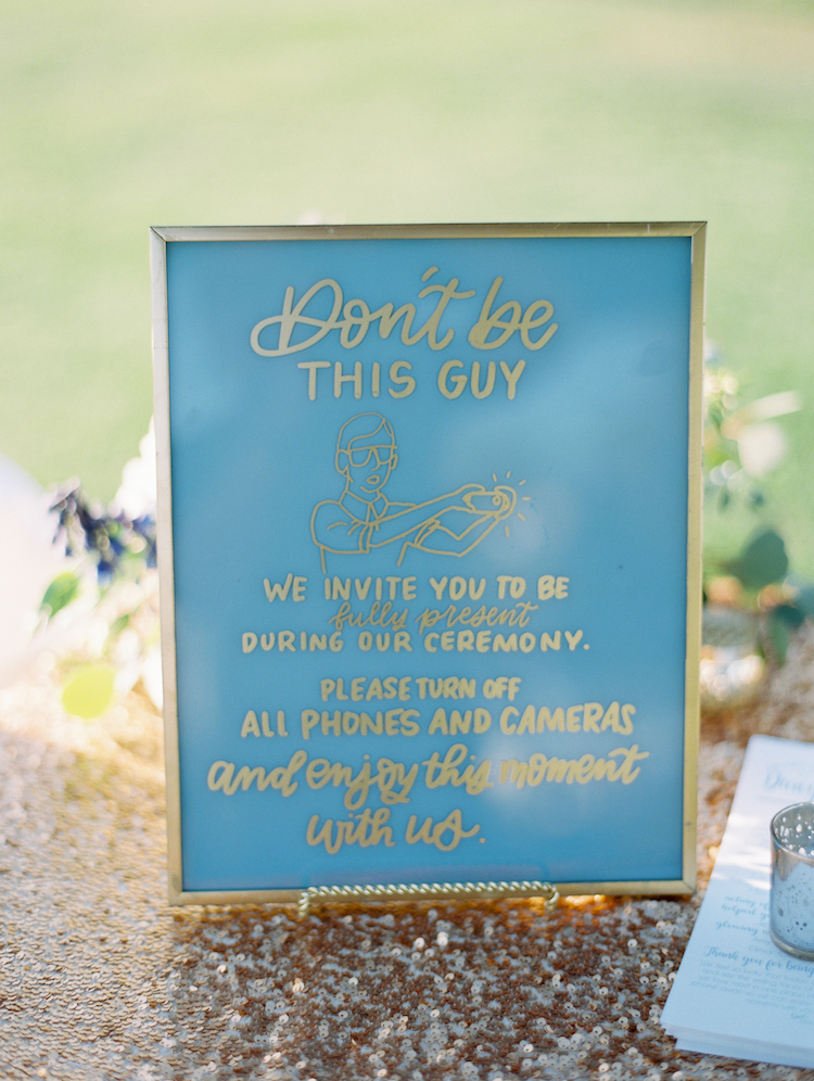 You're allowed to have a sense of humor on your wedding day, like we did with this unplugged ceremony sign. Today, I'm sharing all of my unsolicited wedding advice, for both brides and guests.