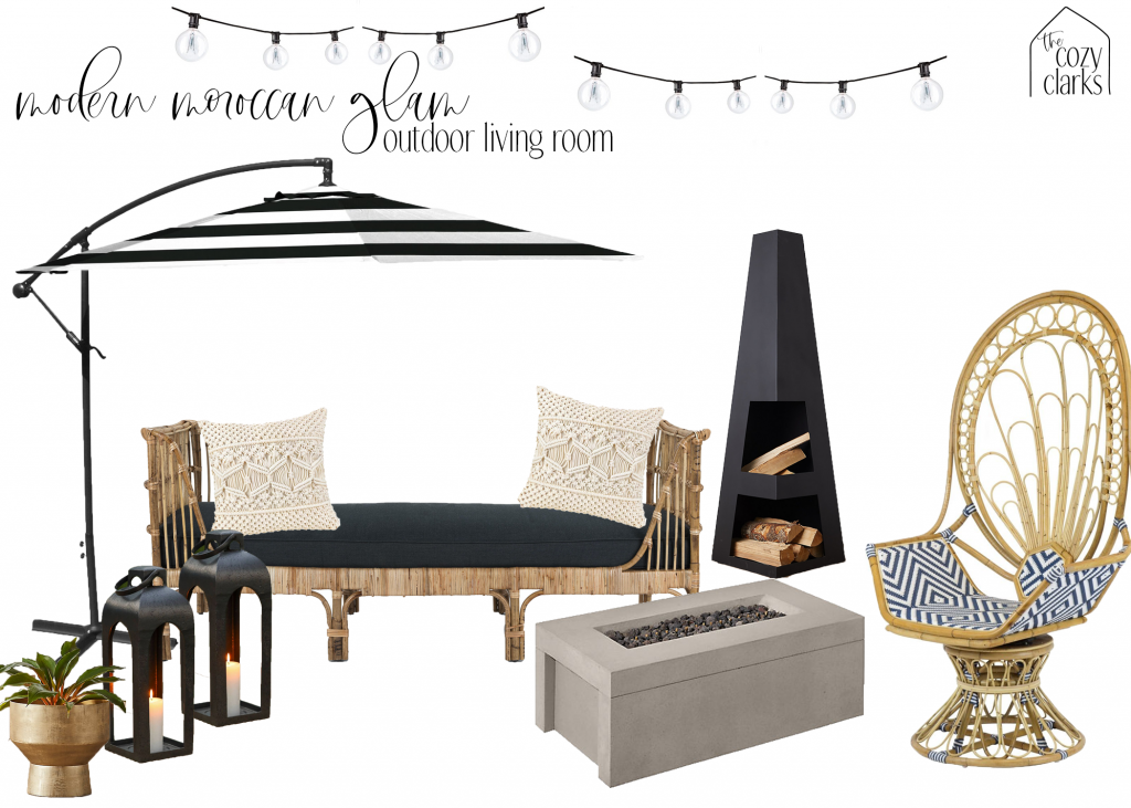We took a lot of inspiration for our outdoor space from our trip to Palm Springs. As a place where they take indoor/outdoor living very seriously, we studied how the designers there created spaces that felt luxurious, glamorous, yet relaxed and welcoming. Here's how we're going to recreate that feeling on our own patio.