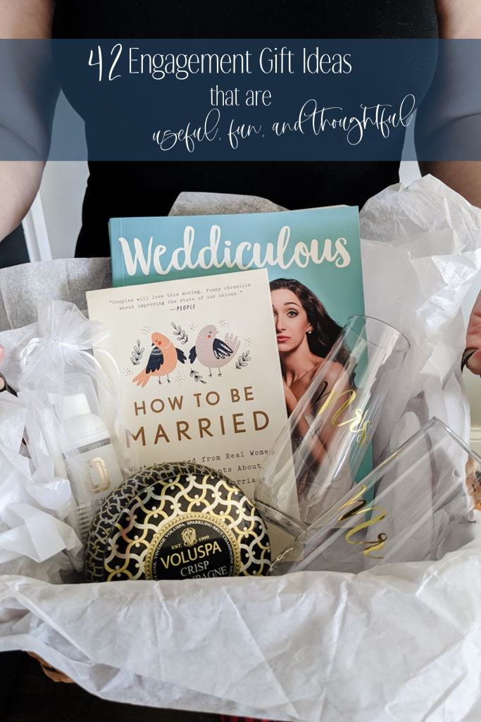 Here are 42 (!) engagement gift ideas that the bride and groom will actually use and love. Click for even more gift ideas and 3 rules to remember for great engagement gifting.