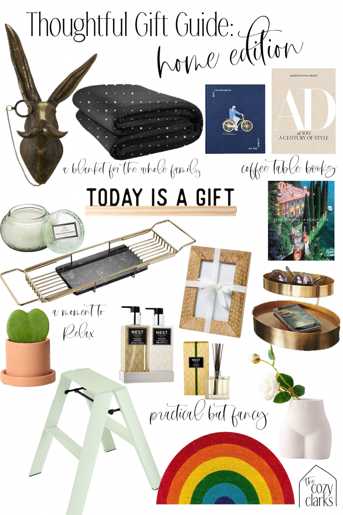 Home items can be a tricky gift, so I'm sharing how to give home gifts in a thoughtful way that doesn't make your loved ones feel like you're trying to redecorate their house.