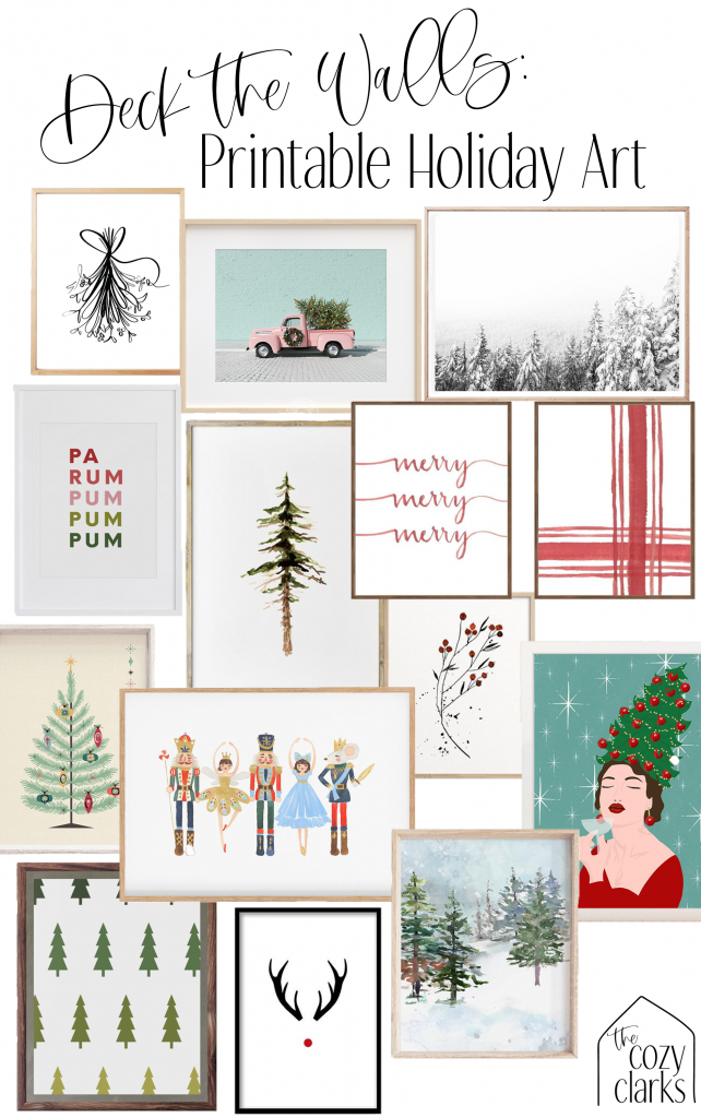 Sharing my favorite printable holiday art of all styles, from minimal to modern to rustic to midcentury—so there's something for everyone!