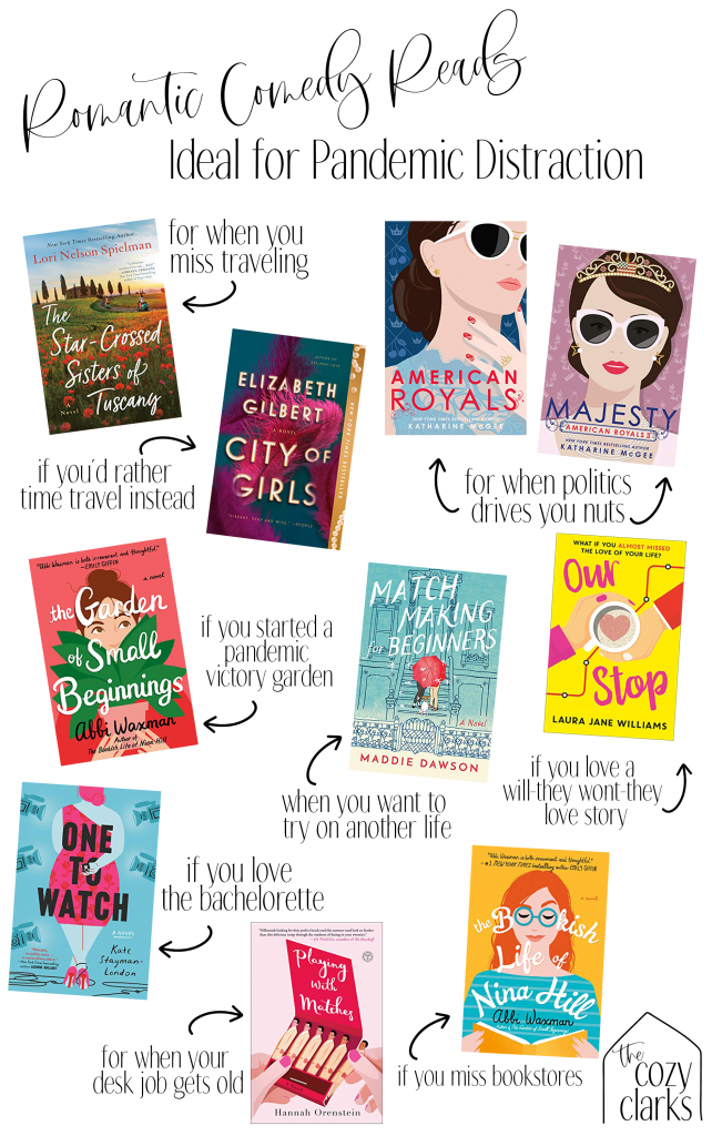 Today, I'm sharing some of the best romantic comedy books I've read lately, in the hopes that it will help you get through this stressful pandemic, too.