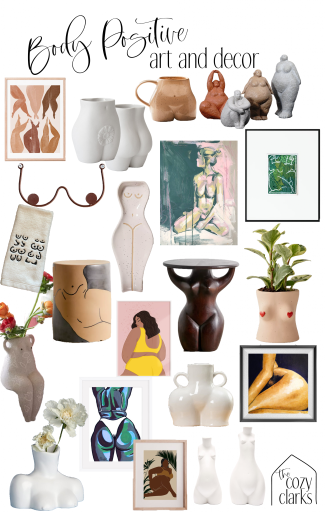 No, we can't buy body positivity—that's a long and personal journey we each have to navigate. But, when we bring a beautiful depiction of a female body into our home, perhaps it can be a reminder of the beauty in our own form.