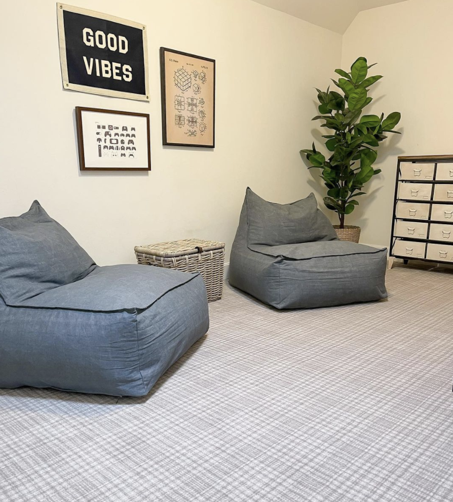 Would you dare to try plaid carpet? Sometimes, it feels like a bold choice, and sometimes it blends to almost a neutral. Click to see more inspiration and ideas!