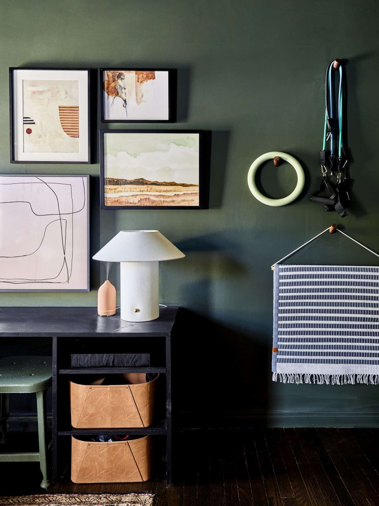 The key to energizing home gym decor? Paint. Once I started looking, I found so many good home gym paint ideas: colors, patterns, murals, and more!